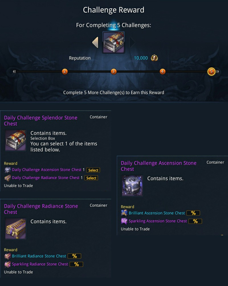 Empyrean Shadows: Item and Systems Daily/Weekly Challenges