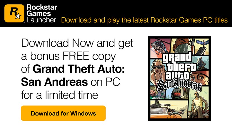 Rockstar Games Launches New Game Launcher On PC With A Free GTA: San Andreas